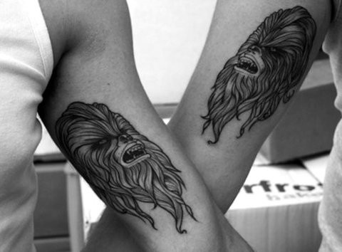 Pin by destiny ivy on star wars sleeve pinterest for Matching star wars tattoos