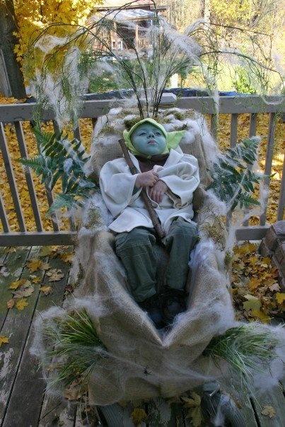 Star Wars Yoda wheelchair costume.