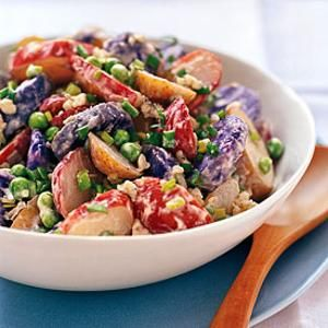 Red, White, and Blue Potato Salad | Salads | Pinterest