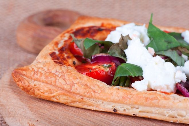 Tomato and Goat Cheese Tart   FOOD and ENTERTAINING   Pinterest