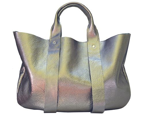 ...metallic purse