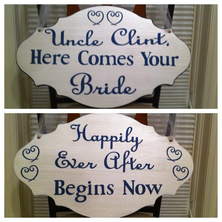 ring bearer sign wedding