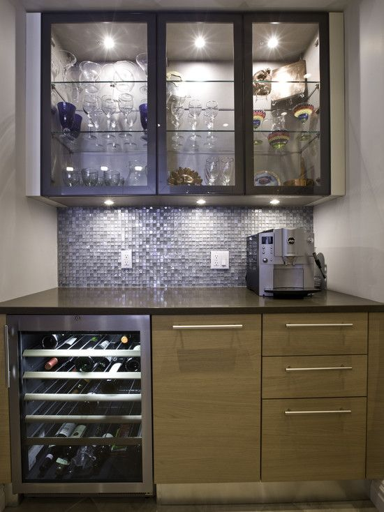 Pin by gina galante on home decor pinterest - Kitchen with mini bar design ...