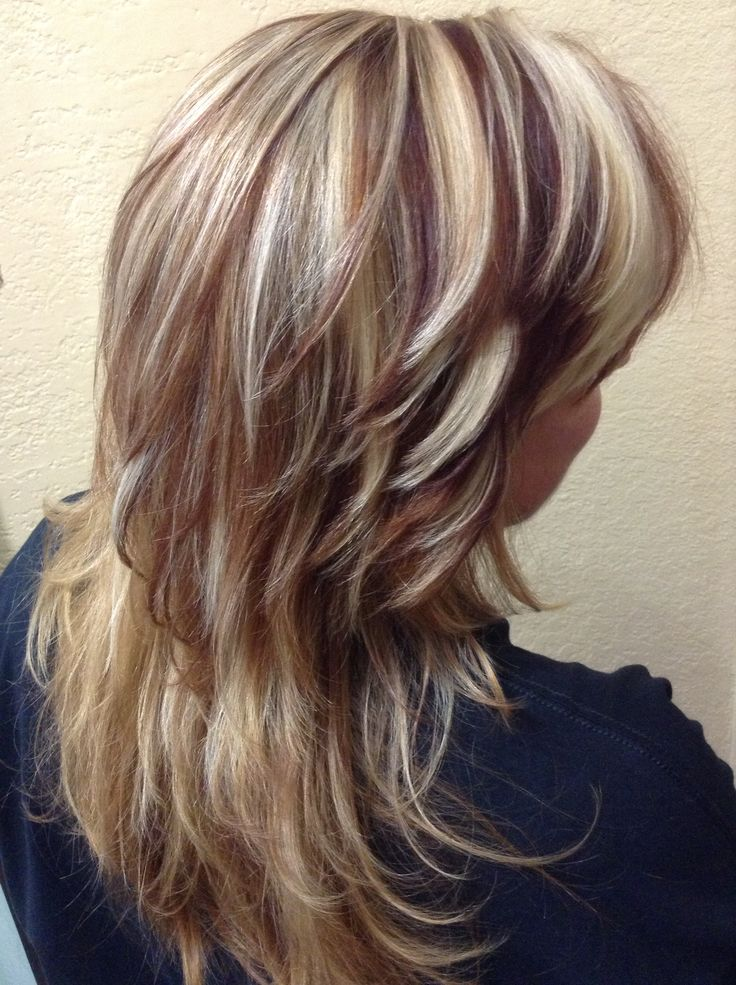 Blonde Amp Dark RedBrown Lites  Hair HighLights  Pinterest