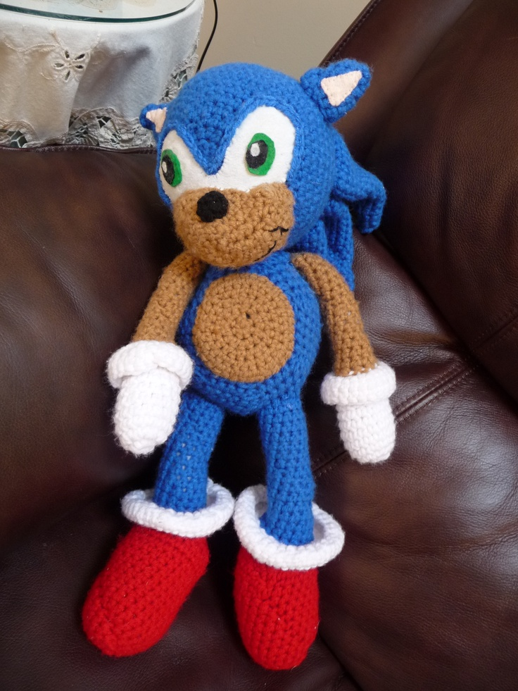 Knitting Pattern For Sonic The Hedgehog Toy : Pin by Christy Lowman on nintendo crochet Pinterest
