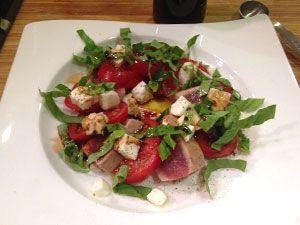 Tuna Caprese Salad - Dr. Gourmet