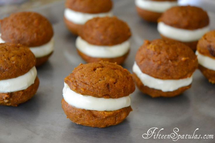 Pumpkin Spice Whoopie Pies with Vanilla Cream Cheese Filling | Recipe