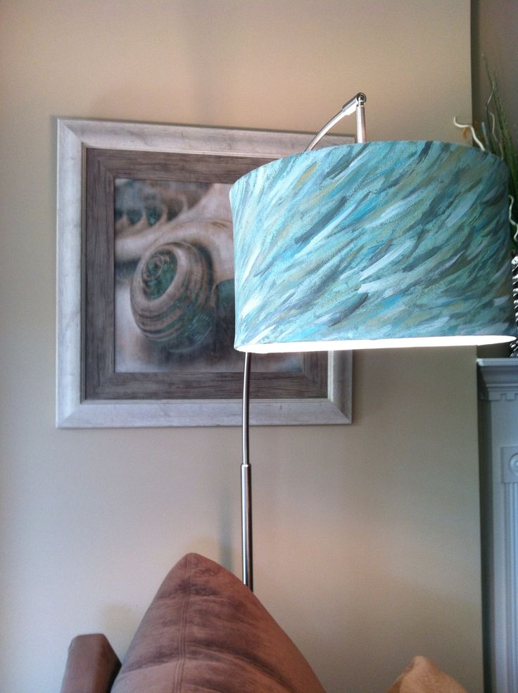 hand painted lamp shade diy lamps shades pinterest. Black Bedroom Furniture Sets. Home Design Ideas