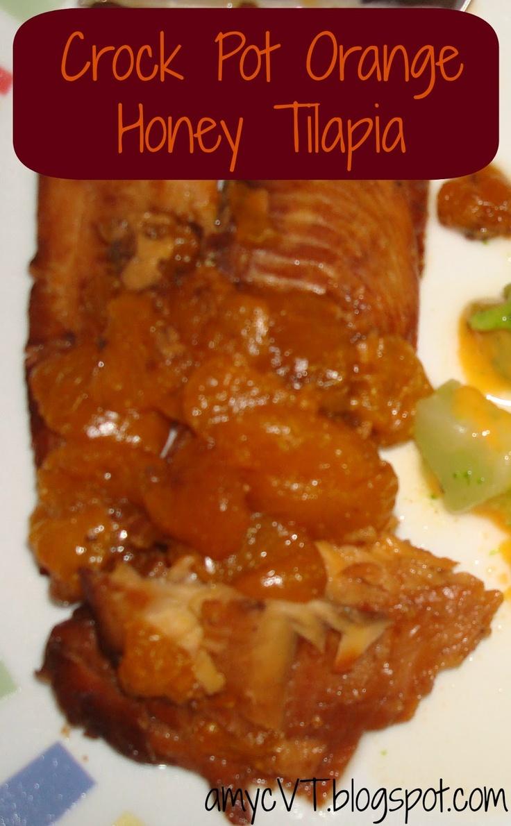 Crock Pot Orange Honey Tilapia | Run with Perseverance | Pinterest