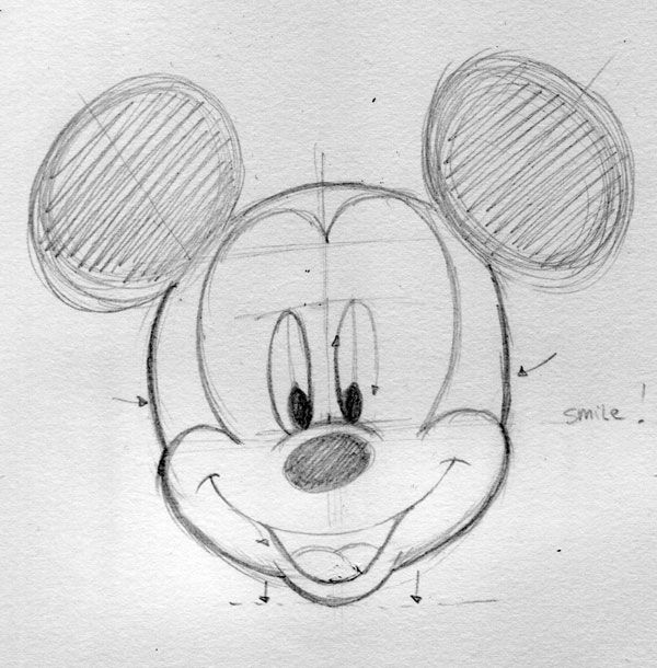 How to Draw Disney Characters From Mickey Mouse