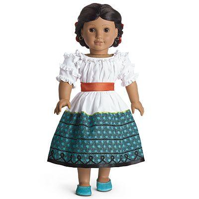 new nib american girl doll josefina feast outfit dress. Black Bedroom Furniture Sets. Home Design Ideas
