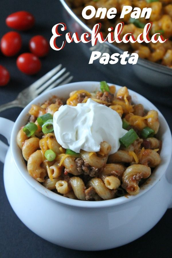 One Pan Enchilada Pasta The Ultimate Pinterest Party 23