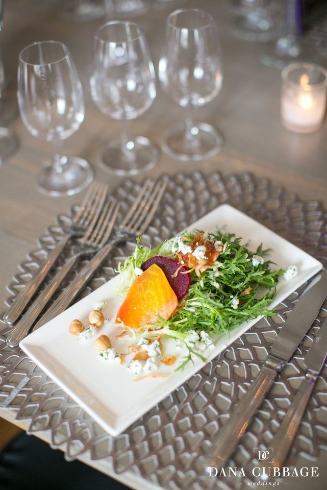 Roasted Heirloom Beets with Herbed Goat Cheese and Frisee with Toasted ...