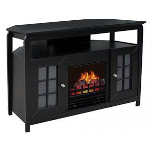 Decor Flame Electric Fireplace Black