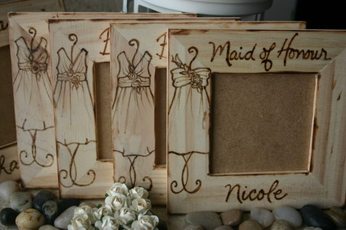 Wedding Gift Ideas For The Bride From Maid Of Honor : Rustic Bridal Party Gift Set Bridesmaid Maid of Honor Wedding