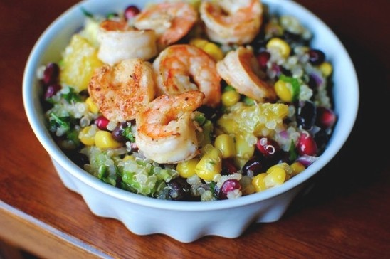 Lime shrimp and black bean salad | Simple Pleasures | Pinterest