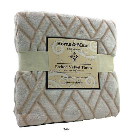Home & Main Ultra Plush Etched Velvet Throw Blanket: pinterest.com/pin/336362665890106058