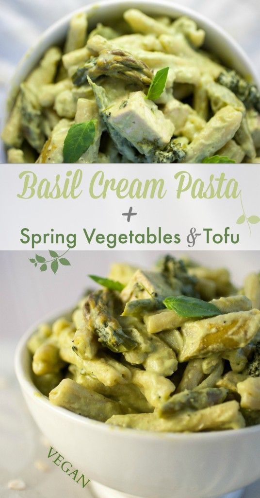 Basil Cream Pasta + Spring Vegetables & Tofu | Produce On Parade - A ...