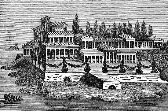 Roman villa roman architecture pinterest for Ancient mural villa