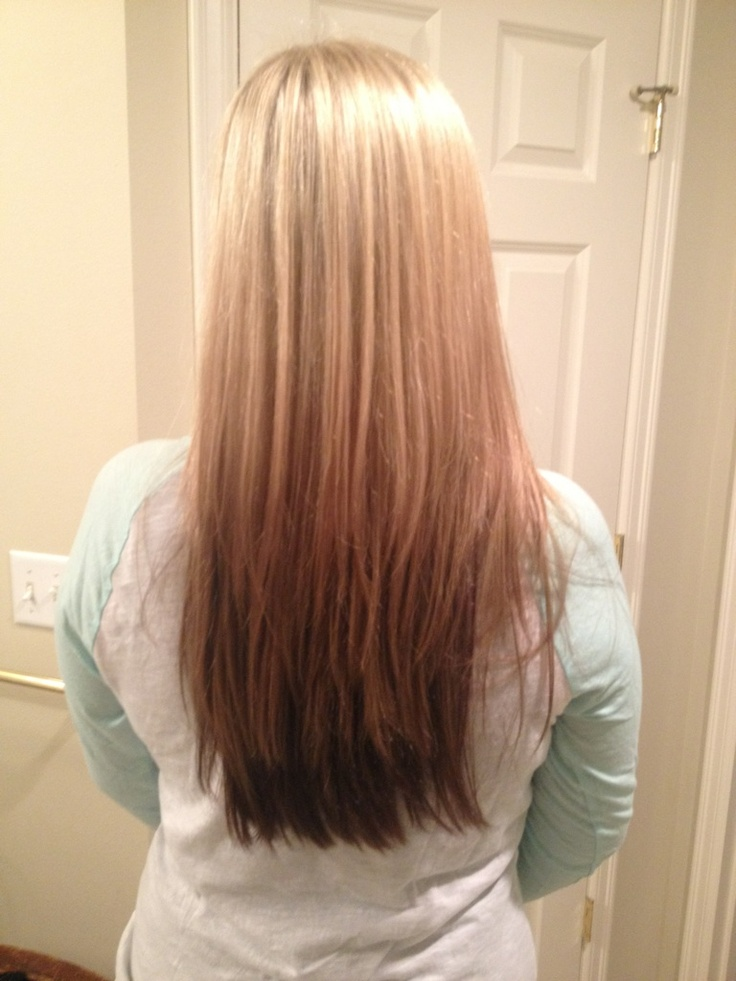 Reverse ombre. ...