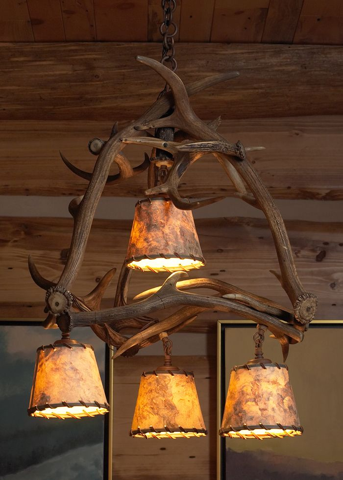 Rustic lighting portfolio image 13 country decor for Log cabin chandelier
