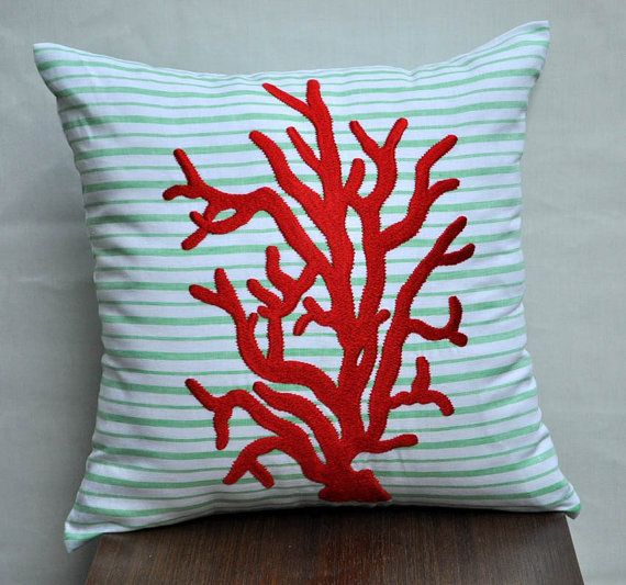 Red Coral Decorative Pillow : Pinterest: Discover and save creative ideas