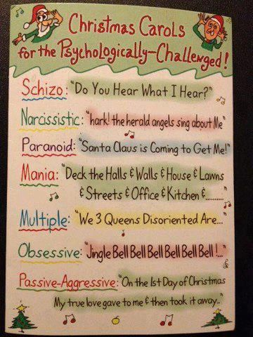 Christmas carols for the psychologically challenged   Funny Christmas ...