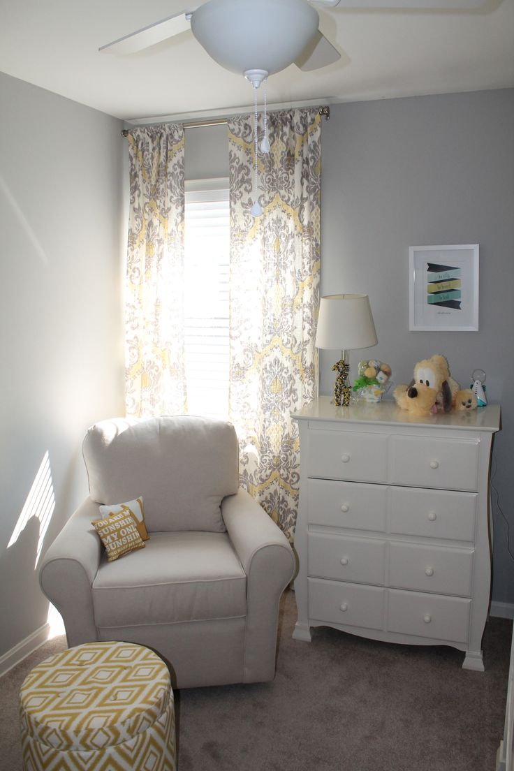 Yellow And Gray Nursery Oh Baby Baby Pinterest