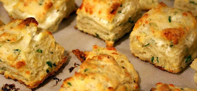 Chive and goat cheese biscuits | Breads | Pinterest