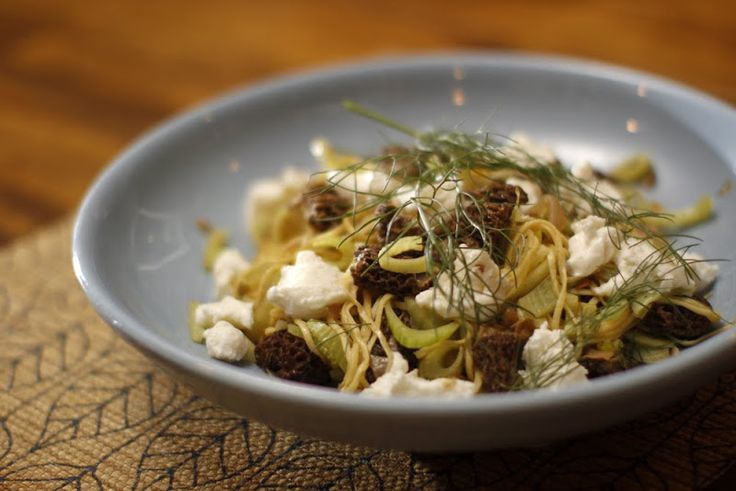 Pasta with Fennel and Morel Mushrooms | New food intake | Pinterest