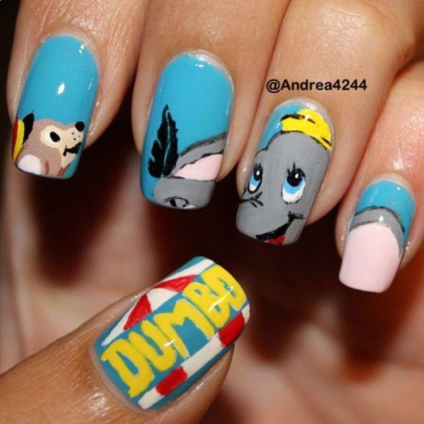 Dumbo Nail Art