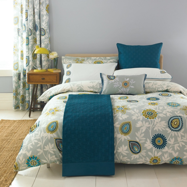teal yellow and gray bedding all things bedrooms pinterest. Black Bedroom Furniture Sets. Home Design Ideas