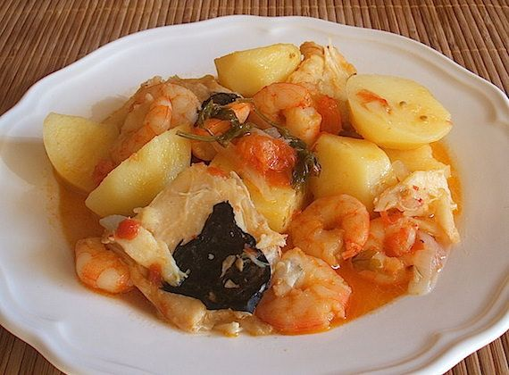 Cod stew with shrimps - Food From Portugal. A very simple recipe to ...