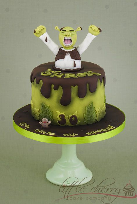 Shrek Cake - by littlecherry @ CakesDecor.com - cake decorating website