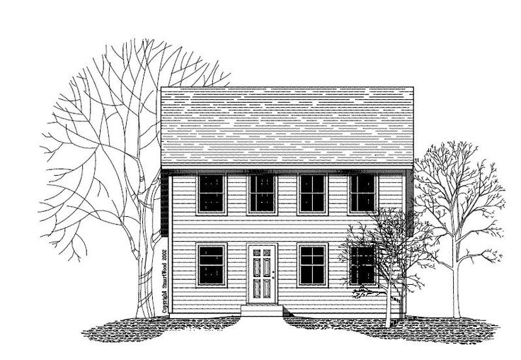 Saltbox house plans colonial style house plans for Saltbox style house plans