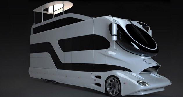 $3 million luxury camper 40' mobile mansion