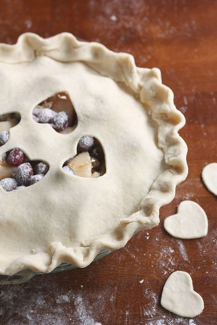 Cranberry Pear Pie by annalisesandberg (tweeted by @CreativeCulinary)