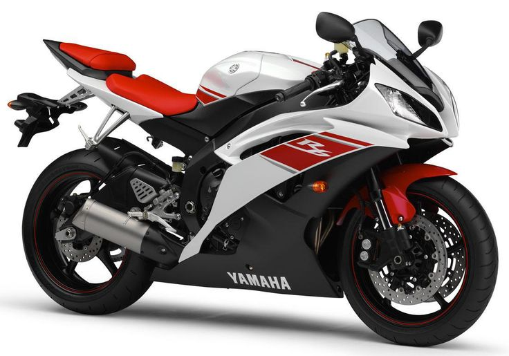 Yamaha R6 white  amp  red 2008Yamaha R6 White And Red