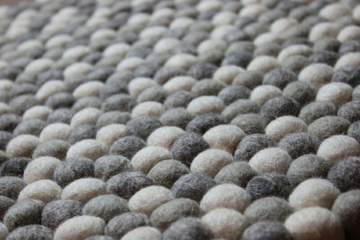 Filzkugelteppich,Sitzkissen 40 cm Rund