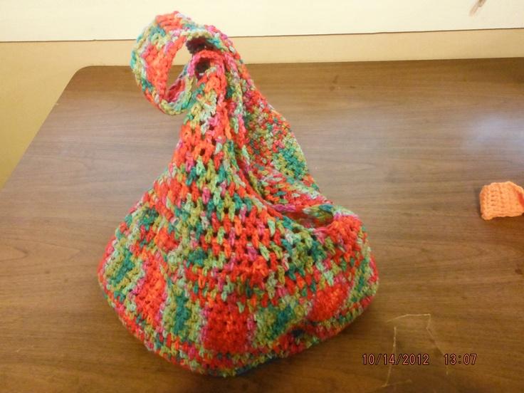 Variegated yarn crochet produce bag Crochet Pinterest