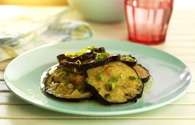 Spicy aubergine salad - Martin Wishart
