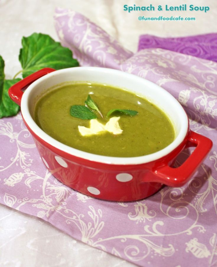 Spinach and Split Pea Soup with Garam Masala and Mint