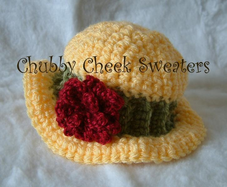 Crochet Pattern For Baby Cloche Hat : FREE Baby Hat Cloche crochet pattern Crochet Pinterest