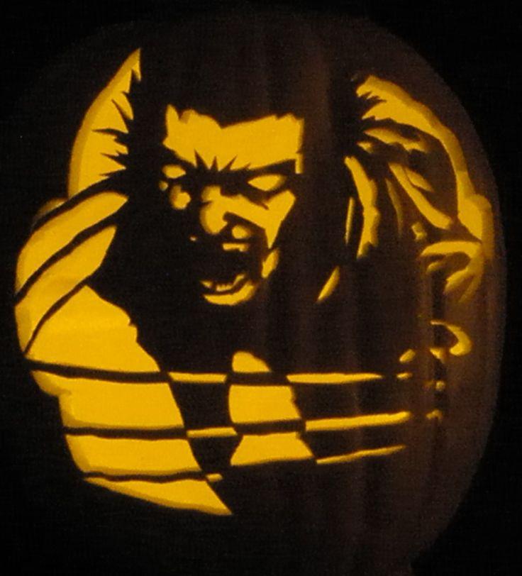 Wolverine pumpkin carving pinterest - Breathtaking image of kid halloween decoration using frankestein jack o lantern pumpkin carving ...