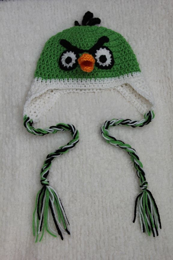 Crochet Angry Bird Hat Collection: By Mrs.V's Crochet by Rhonda Vaughan, via Behance