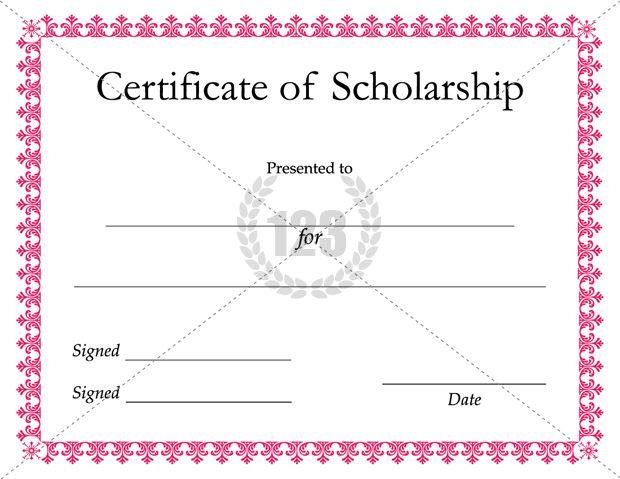 printable scholarship certificates
