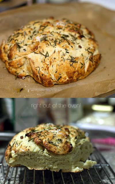Rosemary and roasted garlic bread | Food | Pinterest