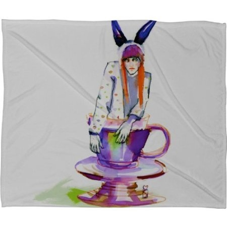 Amazon.com: DENY Designs Marta Spendowska Rabbit Hole Fleece Throw
