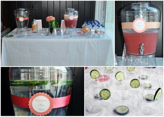 baby shower drink table baby shower pinterest