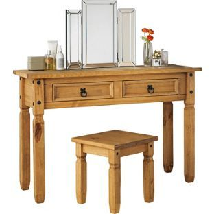 Puerto Rico Dressing Table And Stool Pine From